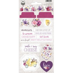 P13 - Chipboard sticker sheet - Time to Relax 03