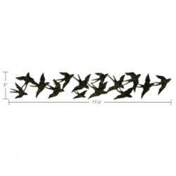 Fustella Sizzix Sizzlitz L Tim Holtz - Birds in Flight