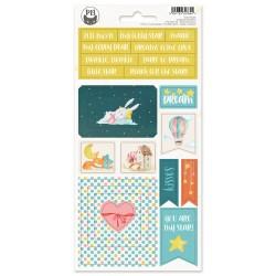P13 - Chipboard sticker sheet - Good Night 01