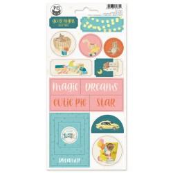 P13 - Chipboard sticker sheet - Good Night 02