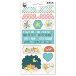 P13 - Chipboard sticker sheet - Good Night 03