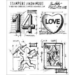 Timbro Tim Holtz Valentine Blueprint