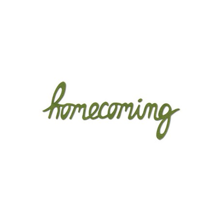 Fustella Sizzix Phrase, Homecoming