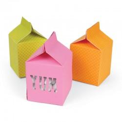 Fustella Sizzix Box, Milk Carton