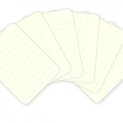 "Kit 100 carte -  Lined cards 3x4"" - Cream"