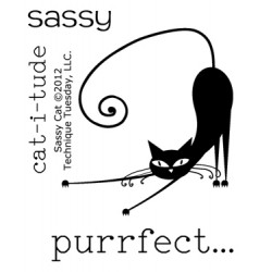 Timbri clear - Technique Tuesday Sassy Cat