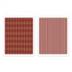 Fustella Sizzix TI T. Holtz -  Harlequin & Stripes Set