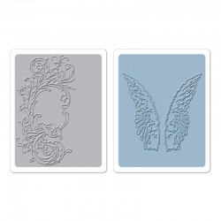 Fustella Sizzix TI T.Holtz -  Flourish & Wings Set