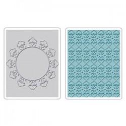 Embossing Folder -  Folksy Circle & Fun Set