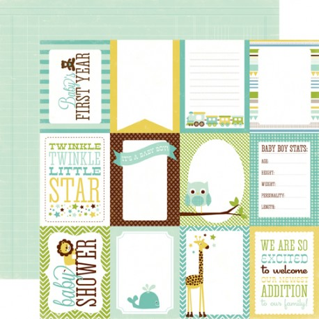 Carta Echo Park Bundle of Joy Boy Journaling Cards