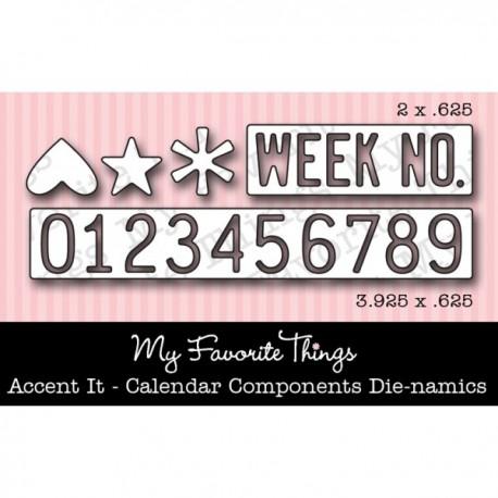 Fustelle Die-namics Accent it - Calendar Components