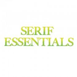 Fustella Sizzix Bigz - Serif Essentials