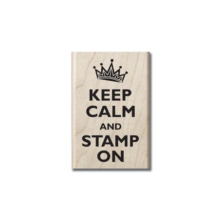 Timbro legno Hampton Art - Keep calm and stamp on