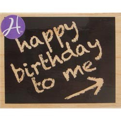 Timbro legno Hampton Art - Happy birthday to me