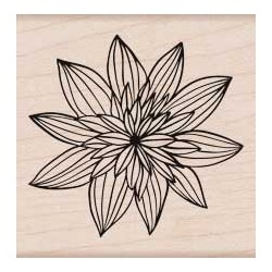 Timbro legno Hero Arts - Night Flower