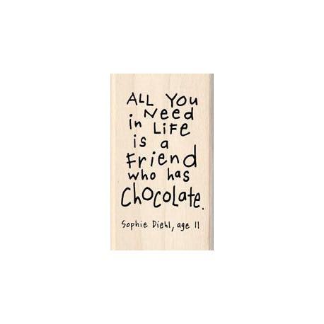 Timbro legno Inkadinkado - A Friend Who Has Chocolate