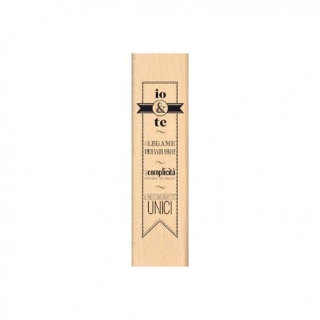 Timbro legno Florileges - Banner io e te