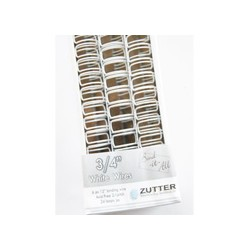 Zutter- 6 Spirali metalliche bianco 3/4inch