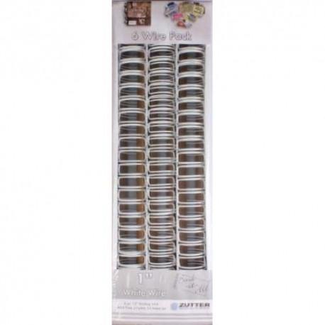 """Zutter- 6 Spirali metalliche bianco 1"""""""