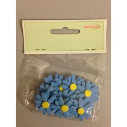 Fiori gomma EuroHobby - Margherite blu
