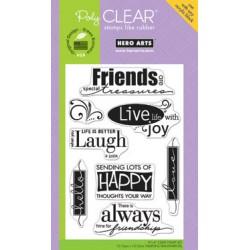 Timbri clear - Hero Arts Live life