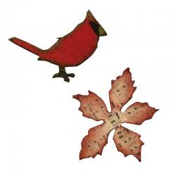 Fustella Sizzix M&S Mini Cardinal & Poinsettia