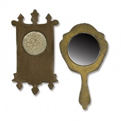 Fustella Sizzix M&S Mini Mirror & Wall Clock