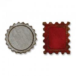 Fustella Sizzix M&S Mini Bottle Cap & Stamp