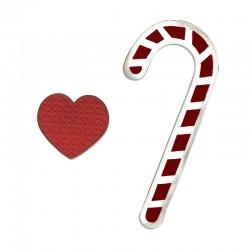 Fustella Sizzix Bigz - Candy Canes & Heart