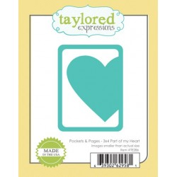 Fustella Taylored Expressions - Pocket & Pages - 3x4 Part of my Heart