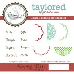 Timbri Cling Taylored Expressions - Keeping Tabs