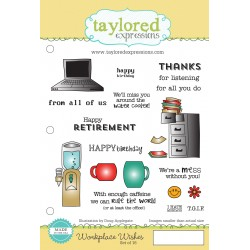 Timbri Cling Taylored Expressions - Workplace Wishes
