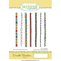 Timbri Cling Taylored Expressions - Doodle Borders