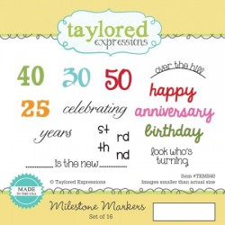 Timbri Cling Taylored Expressions - Milestone Markers