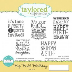 Timbri Cling Taylored Expressions - Big Bold Birthday