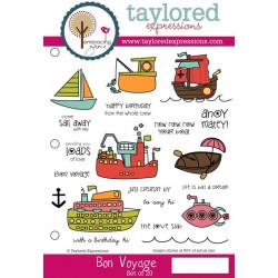 Timbri Cling Taylored Expressions - Bon Voyage