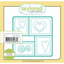 Fustella Taylored Expressions - Square Block Cutting Plate