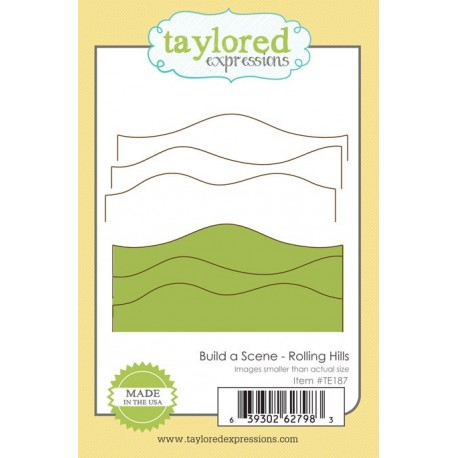 Fustella Taylored Expressions - Build a Scene - Rolling Hills