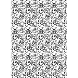 Foglio A4 sticker Rayher - Buchstaben