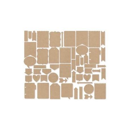 Abbellimenti in carta Simple Stories - Diy Journal Layers Kraft