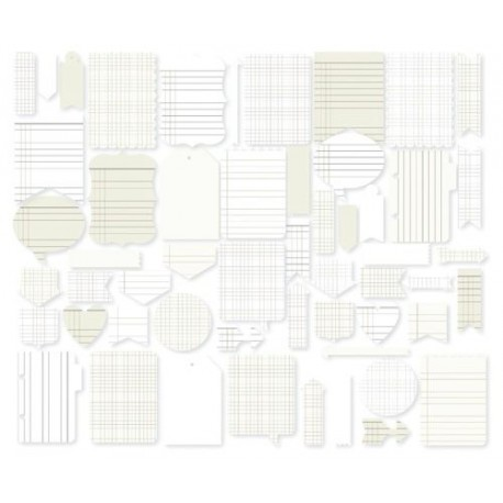 Abbellimenti in carta Simple Stories - Diy Journal Layers Office