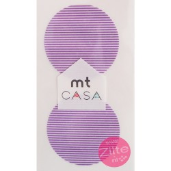 Carta washi cerchio mtCasa - Border purple