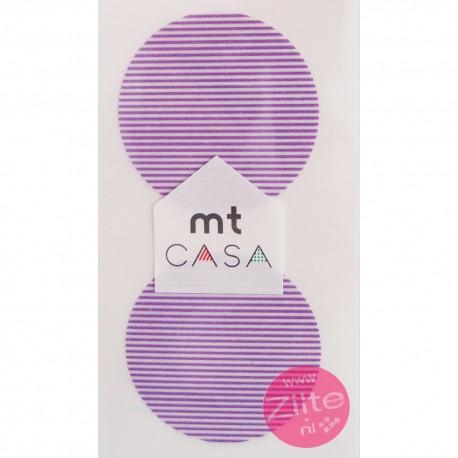 Carta washi cerchio mtCasa - Border purple