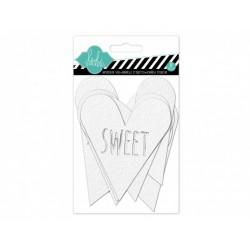 Etichette acquerellabili  Heidi Swapp - Cuori e Scritte