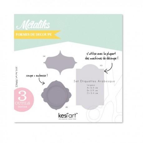 Fustella Kesi'Art - Métaliks set etiquettes arabesque