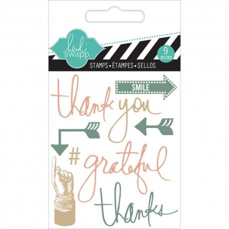 Timbri Clear Heidi Swapp - Thank You Mini