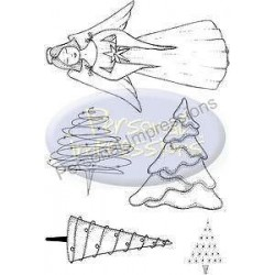 Timbri clear Personal Impressions- Angelic Christams Trees