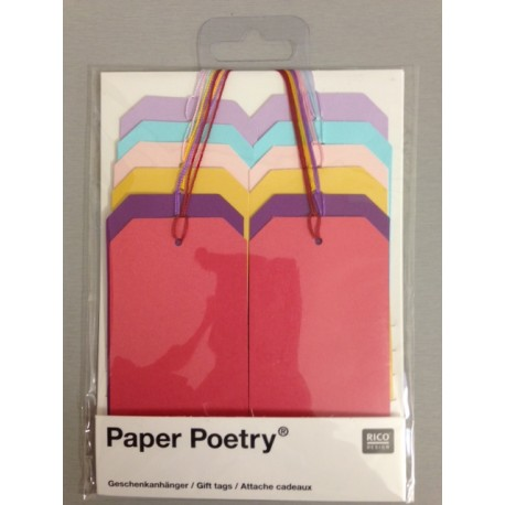 Kit Tags Paper Poetry Rico Design - Gift Tags