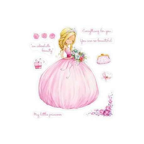Timbro Clear Scrap Berry's - little princess
