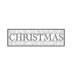 Timbro clear Woodware Christams